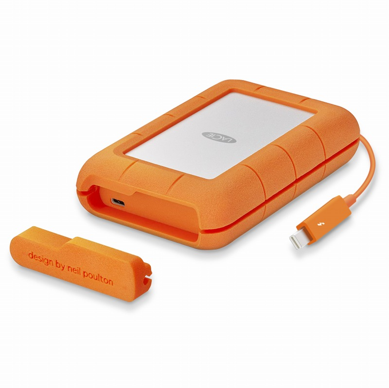 [エレコム]LaCie HDD ポータブルハードディスク 4TB Rugged Thunderbolt USB-C 耐衝撃 STFS4000800[▲][EL]