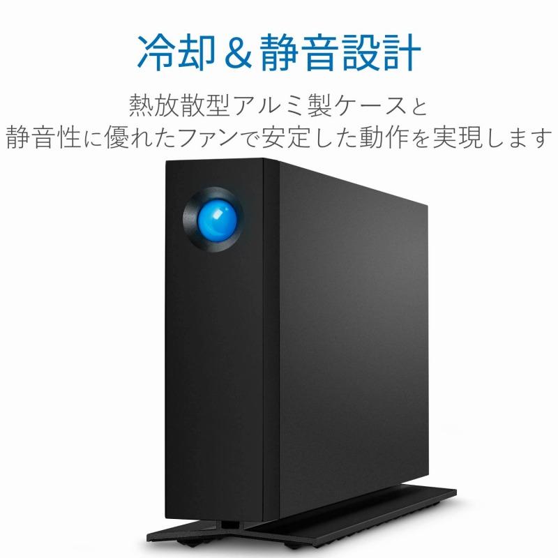 [エレコム]LaCie HDD 外付けハードディスク 10TB d2 Professional USBタイプC ブラック 5年間保証 STHA10000800[▲][EL]