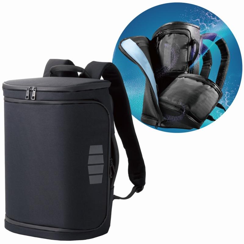 """[エレコム] ジムへ直行できるビジネスバッグ 2way(リュック/手提げ) 大容量 6ポケット 収納サイズ(A4 15.6インチまでのパソコン/PC) 撥水 backpack(バックパック)  """"BUNP""""シリーズ 黒(ブラック) BM-SBBP01BK[▲][EL]"""