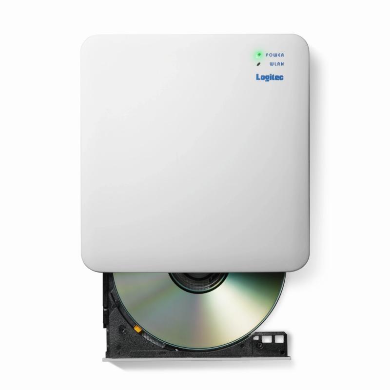 [エレコム] WiFi対応DVDディスクドライブ/5GHz/iOS_Android対応/DVD再生対応/USB3.0/ホワイト[▲][EL]