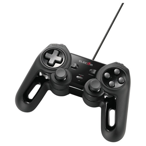 [エレコム] USB ゲームパッド 13ボタン Xinput 振動 連射 高耐久 ブラック JC-U4013SBK[▲]