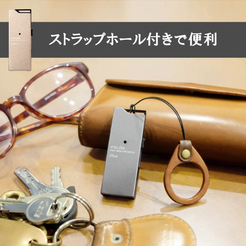 [エレコム] USBメモリUSB3.0対応 スライド式 高速転送 アルミ素材 128GB ゴールド MF-DAU3128GGD[▲][EL]