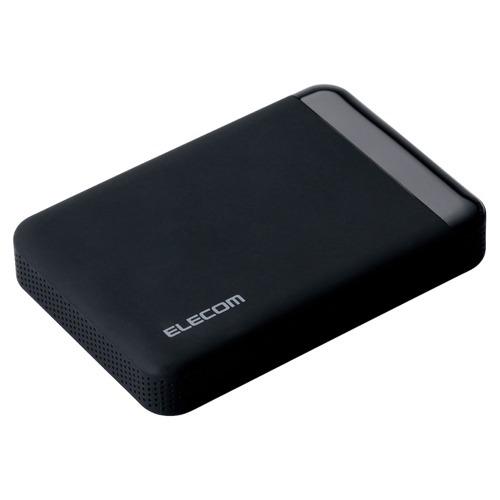 [エレコム] HDD ポータブルハードディスク 1TB USB3.0 テレビ録画対応 かんたん接続ガイド付き 静穏設計 SeeQVault ブラック ELP-QEN010UBK[▲][EL]