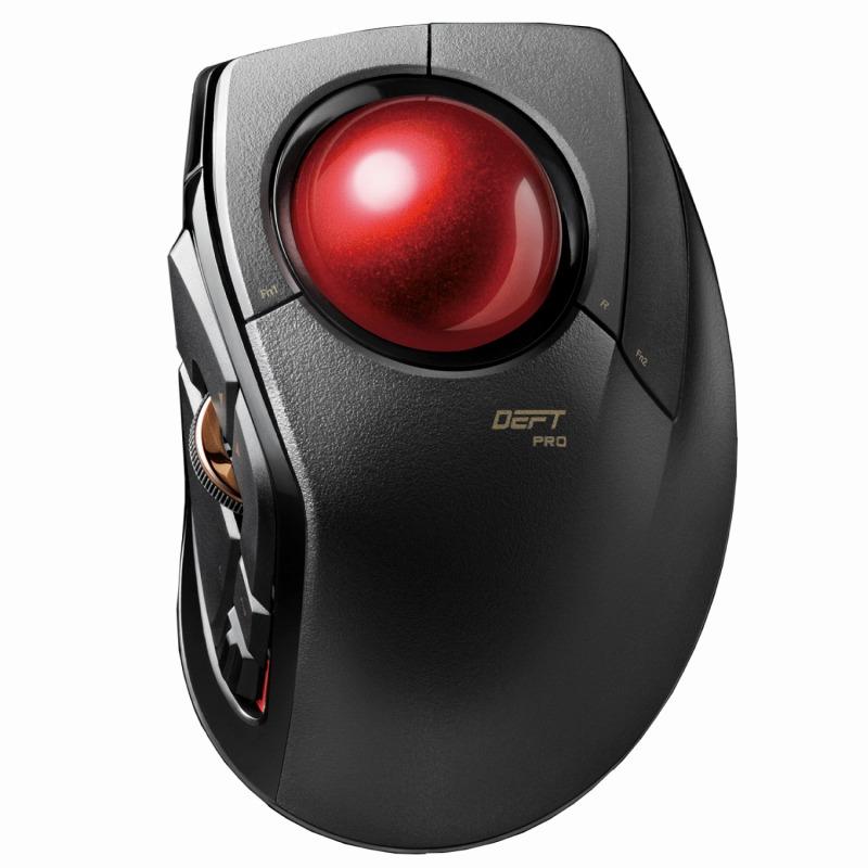 [エレコム] トラックボールマウス 3年保証 8ボタン 人差し指 チルトホイール Bluetooth 有線 2.4GHz 無線 3接続方式 高耐久スイッチ ブラック(黒) M-DPT1MRBK[▲][EL]