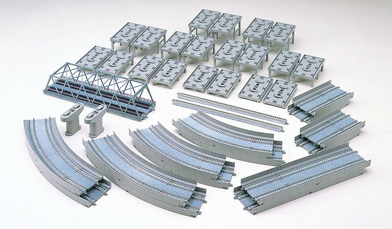 【トミックス/TOMIX】レールセット高架複線立体交差セット(HCパターン) 鉄道模型 Nゲージ 線路 レール[▲][ホ][F]