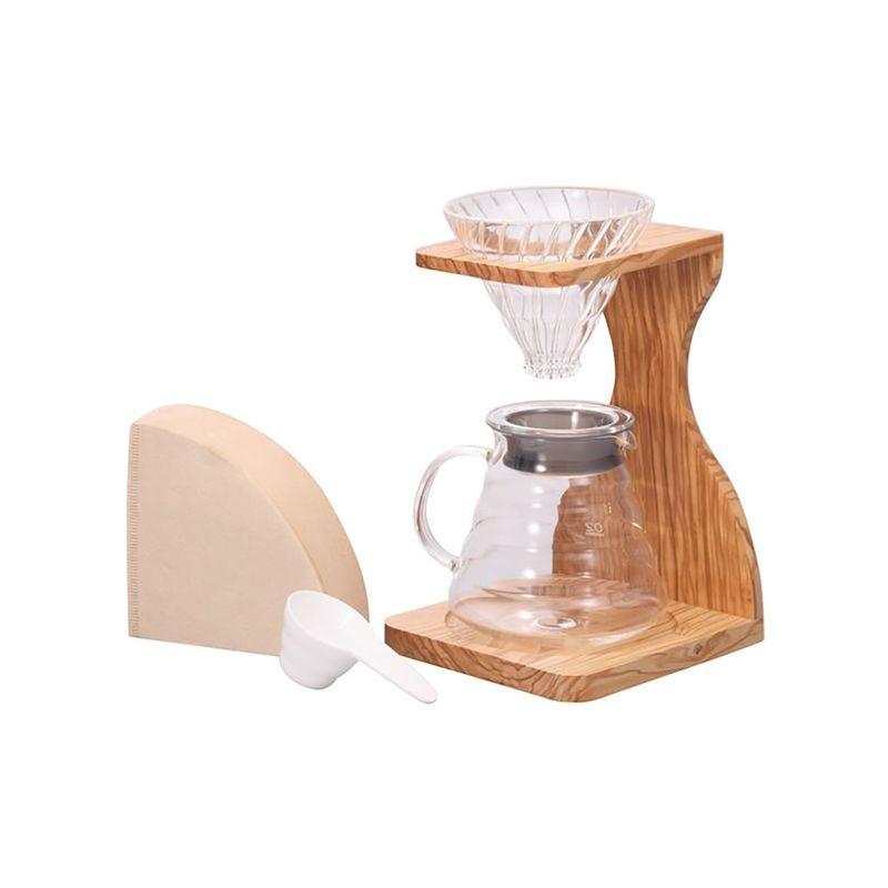 【HARIO(ハリオ)】V60オリーブウッドスタンドセット VSS-1206-OV 珈琲 コーヒー おしゃれ ハンドドリップ ドリップコーヒー[▲][KM]