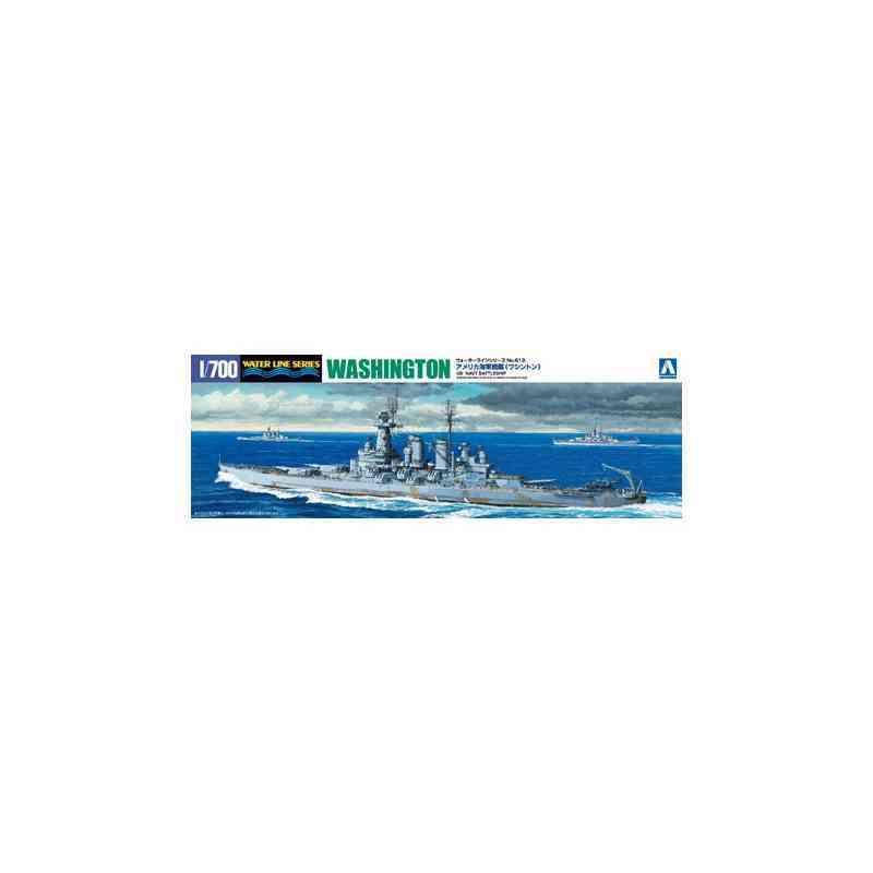 アオシマ 1 700 数量限定 ウォーターライン 艦船 F 人気ブレゼント! ワシントン ホ アメリカ海軍戦艦 プラモデル