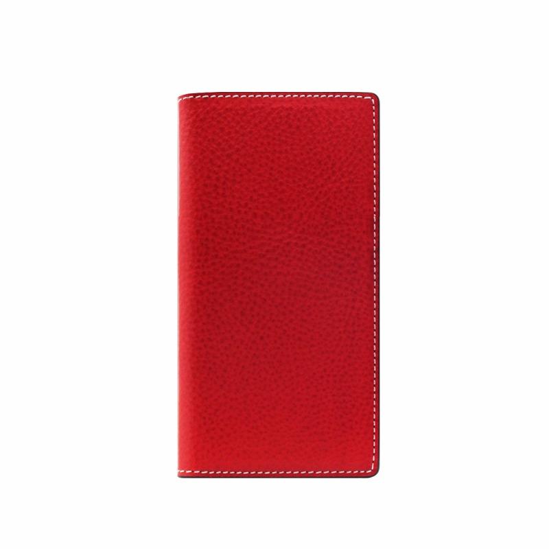 【SLG Design(エスエルジーデザイン)】手帳型スマホケース iPhone XS / X Minerva Box Leather Case レッド スマートフォンケース スマホケース 手帳型ケース[▲][R]