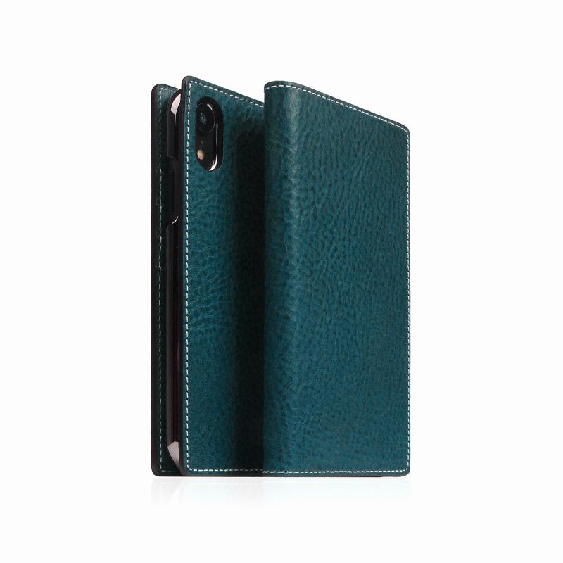 【SLG Design(エスエルジーデザイン)】手帳型スマホケース iPhone XR Minerva Box Leather Case ブルー スマートフォンケース スマホケース 手帳型ケース[▲][R]