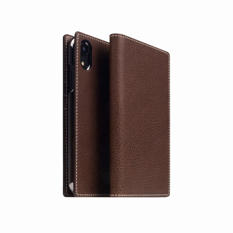 【SLG Design(エスエルジーデザイン)】手帳型スマホケース iPhone XR Minerva Box Leather Case ブラウン スマートフォンケース スマホケース 手帳型ケース[▲][R]
