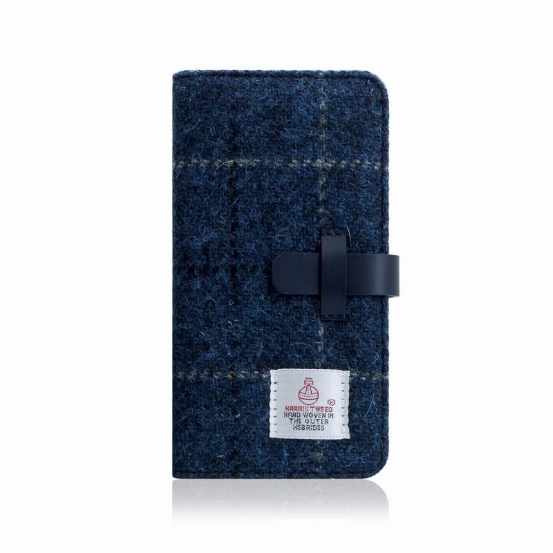 【SLG Design(エスエルジーデザイン)】手帳型スマホケース iPhone XR Harris Tweed Diary ネイビー スマートフォンケース スマホケース 手帳型ケース[▲][R]