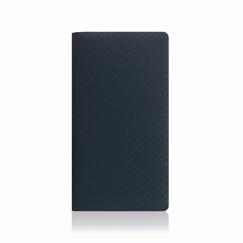 【SLG Design(エスエルジーデザイン)】手帳型スマホケース iPhone XS Max carbon leather case ネイビー スマートフォンケース スマホケース 手帳型ケース[▲][R]