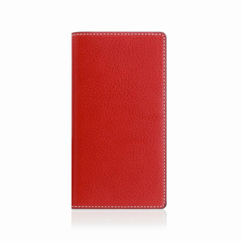 【SLG Design(エスエルジーデザイン)】手帳型スマホケース iPhone XS Max  Minerva Box Leather Case レッド スマートフォンケース スマホケース 手帳型ケース[▲][R]