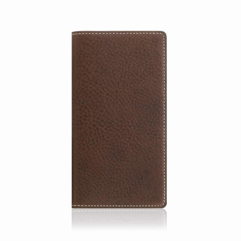【SLG Design(エスエルジーデザイン)】手帳型スマホケース iPhone XS Max  Minerva Box Leather Case ブラウン スマートフォンケース スマホケース 手帳型ケース[▲][R]