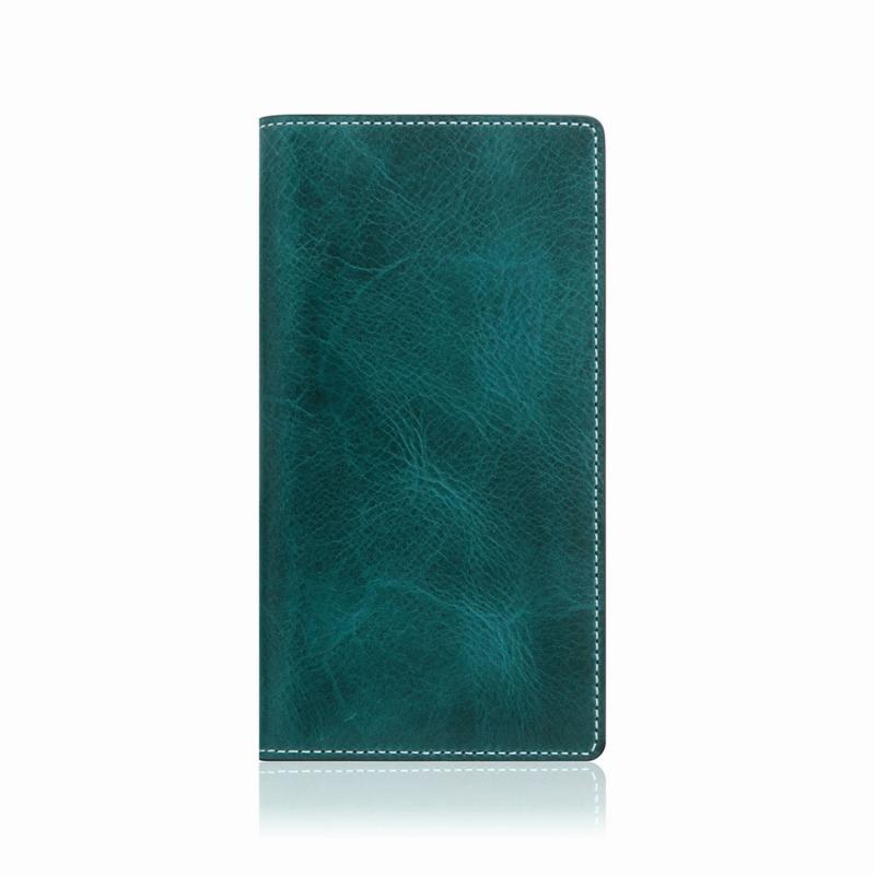 【SLG Design(エスエルジーデザイン)】手帳型スマホケース iPhone XS Max  Badalassi Wax case グリーン スマートフォンケース スマホケース 手帳型ケース[▲][R]