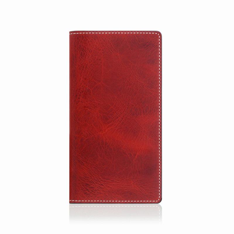 【SLG Design(エスエルジーデザイン)】手帳型スマホケース iPhone XS Max  Badalassi Wax case レッド スマートフォンケース スマホケース 手帳型ケース[▲][R]