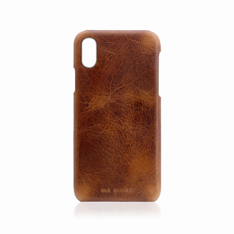 【SLG Design(エスエルジーデザイン)】背面カバー型スマホケース iPhone XS Max  Badalassi Wax Bar case ブラウン スマートフォンケース スマホケース[▲][R]