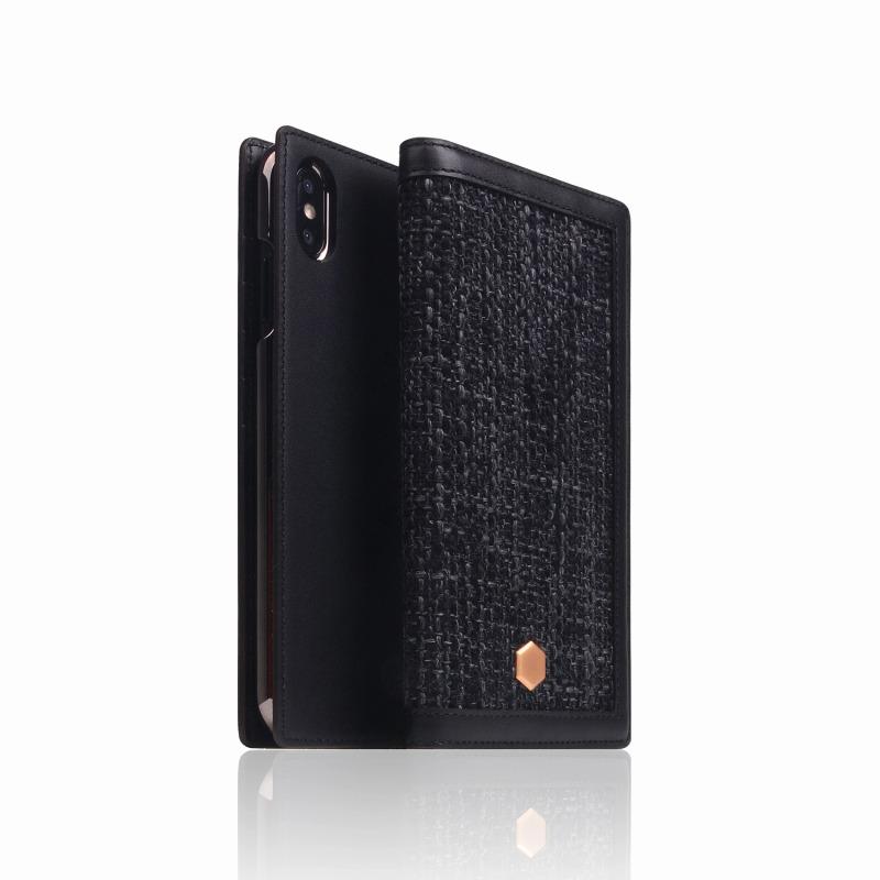 手帳型 お買い物マラソン限定50円OFFクーポン SLG Design エスエルジーデザイン 手帳型スマホケース iPhone XS Max Edition ブラック 手帳型ケース R Leather スマホケース Calf Diary Skin NEW スマートフォンケース 新色
