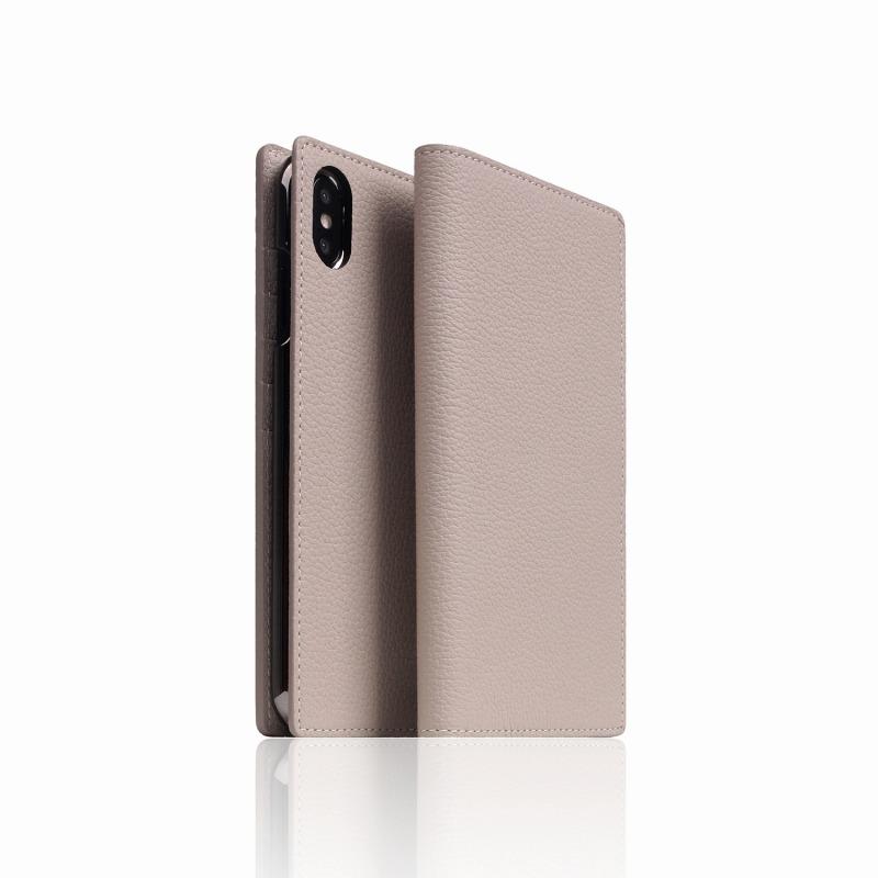 【SLG Design(エスエルジーデザイン)】手帳型スマホケース iPhone XS Max  Full Grain Leather Case Light Cream スマートフォンケース スマホケース 手帳型ケース[▲][R]