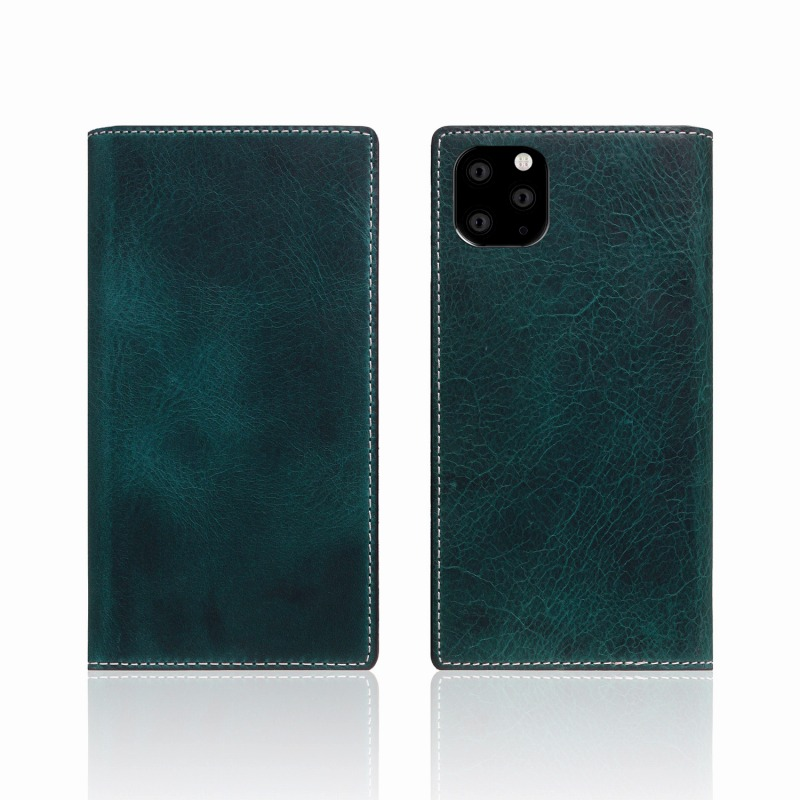 【SLG Design(エスエルジーデザイン)】iPhone 11 Pro Badalassi Wax case グリーン スマートフォンケース スマホケース 手帳型ケース[▲][R]