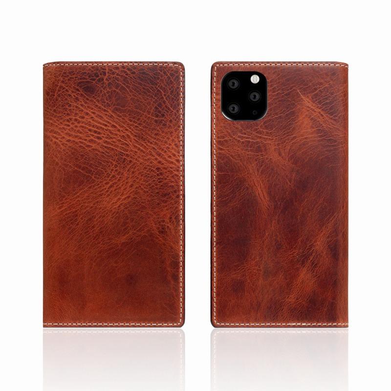 【SLG Design(エスエルジーデザイン)】iPhone 11 Pro Badalassi Wax case ブラウン スマートフォンケース スマホケース 手帳型ケース[▲][R]
