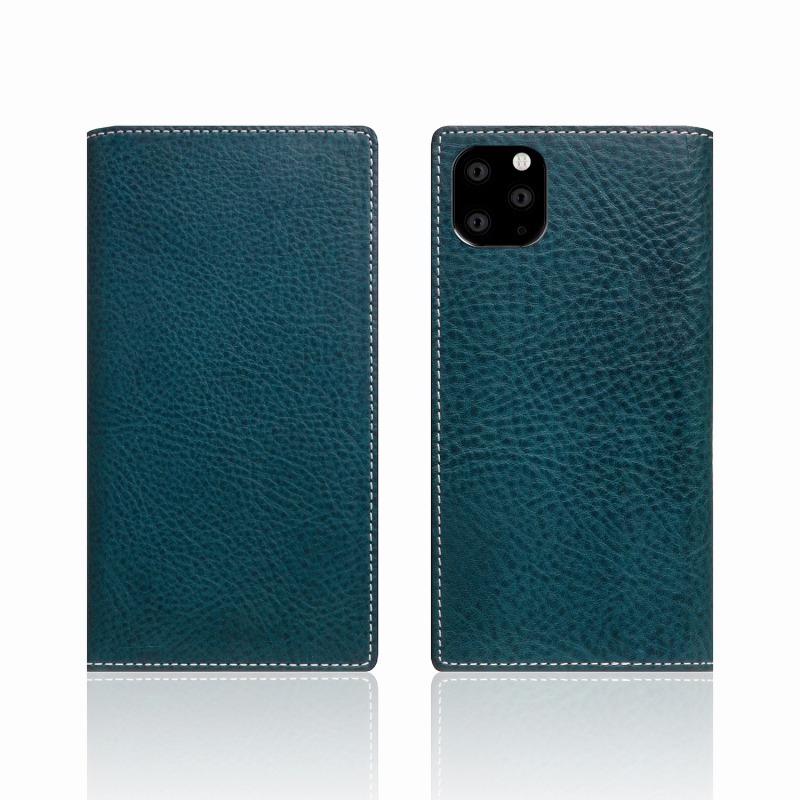 【SLG Design(エスエルジーデザイン)】iPhone 11 Pro Minerva Box Leather Case ブルー スマートフォンケース スマホケース 手帳型ケース[▲][R]