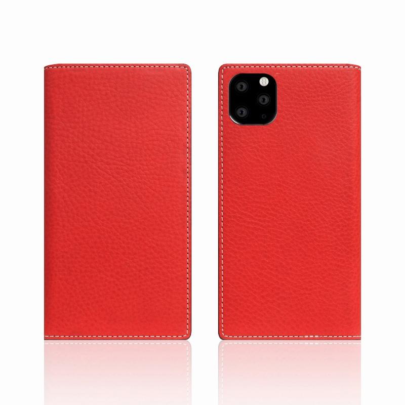 【SLG Design(エスエルジーデザイン)】iPhone 11 Pro Minerva Box Leather Case レッド スマートフォンケース スマホケース 手帳型ケース[▲][R]