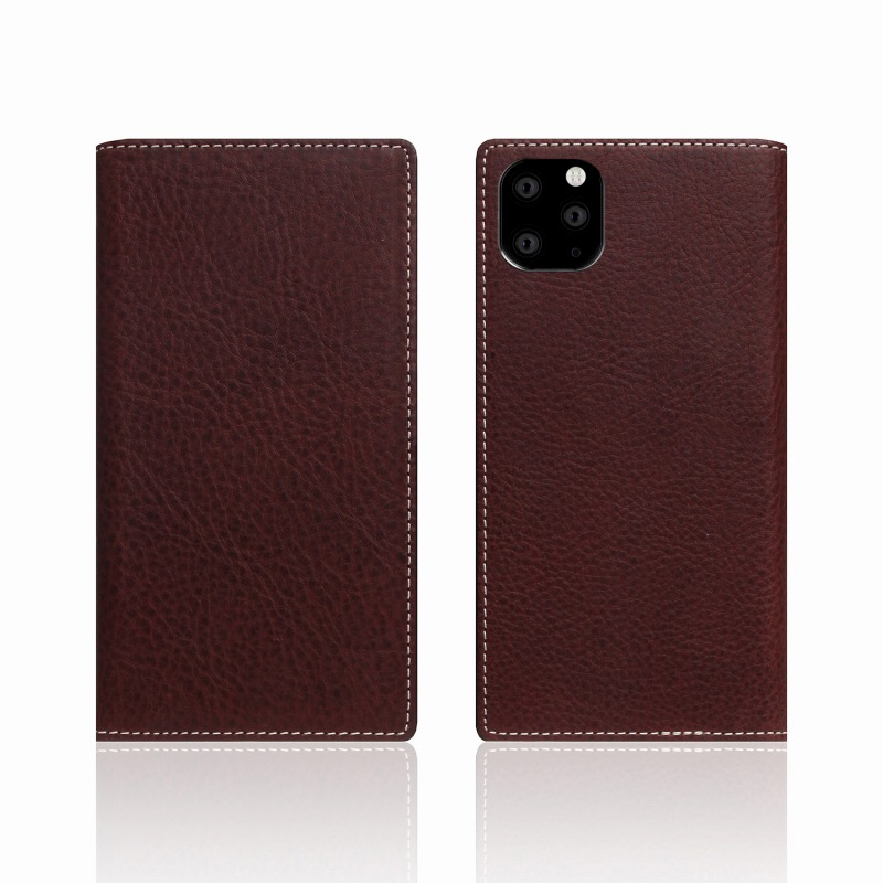 【SLG Design(エスエルジーデザイン)】iPhone 11 Pro Minerva Box Leather Case ブラウン スマートフォンケース スマホケース 手帳型ケース[▲][R]