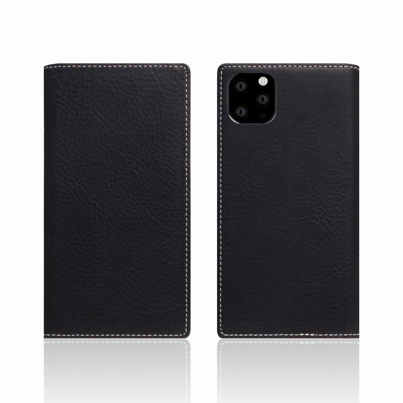 【SLG Design(エスエルジーデザイン)】iPhone 11 Pro Minerva Box Leather Case ブラック スマートフォンケース スマホケース 手帳型ケース[▲][R]