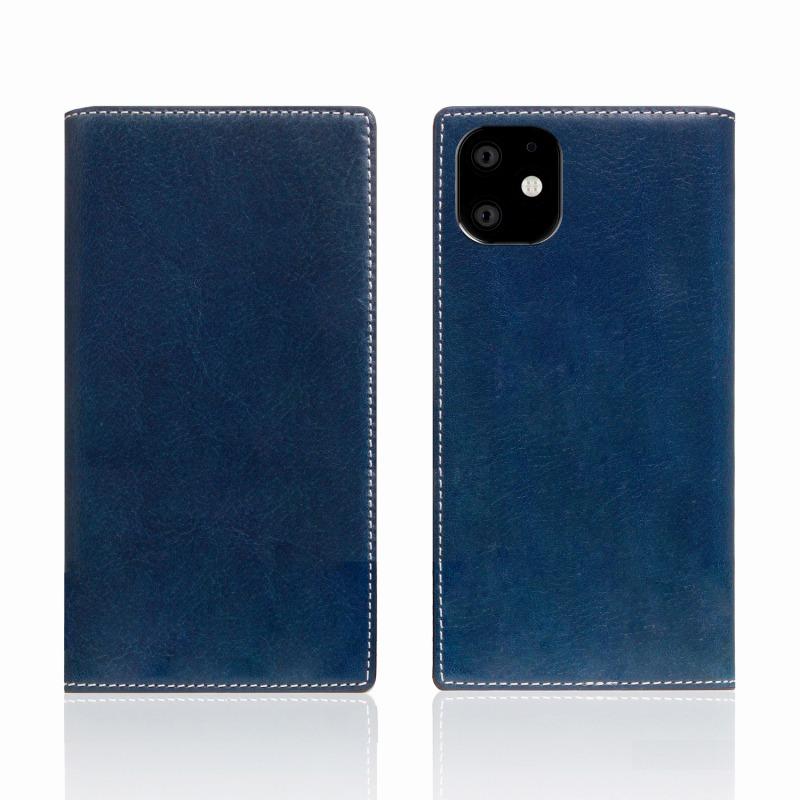 【SLG Design(エスエルジーデザイン)】iPhone 11 Tamponata Leather case ブルー スマートフォンケース スマホケース 手帳型ケース[▲][R]