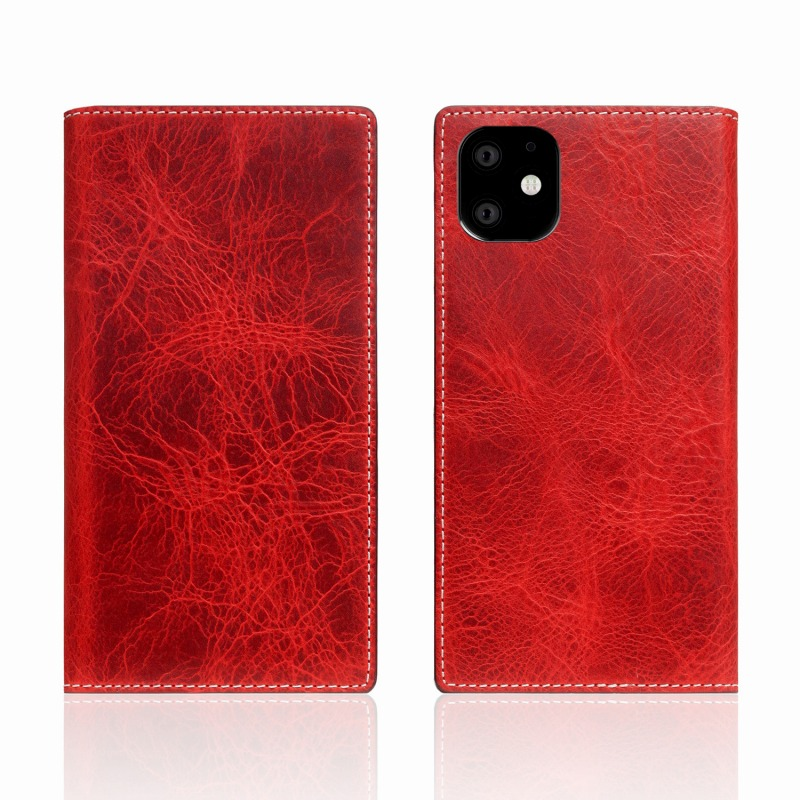 【SLG Design(エスエルジーデザイン)】iPhone 11 Badalassi Wax case レッド スマートフォンケース スマホケース 手帳型ケース[▲][R]