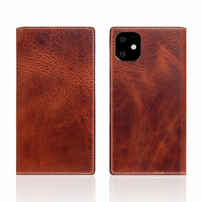 【SLG Design(エスエルジーデザイン)】iPhone 11 Badalassi Wax case ブラウン スマートフォンケース スマホケース 手帳型ケース[▲][R]