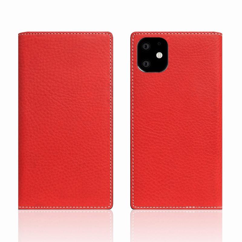 【SLG Design(エスエルジーデザイン)】iPhone 11 Minerva Box Leather Case レッド スマートフォンケース スマホケース 手帳型ケース[▲][R]