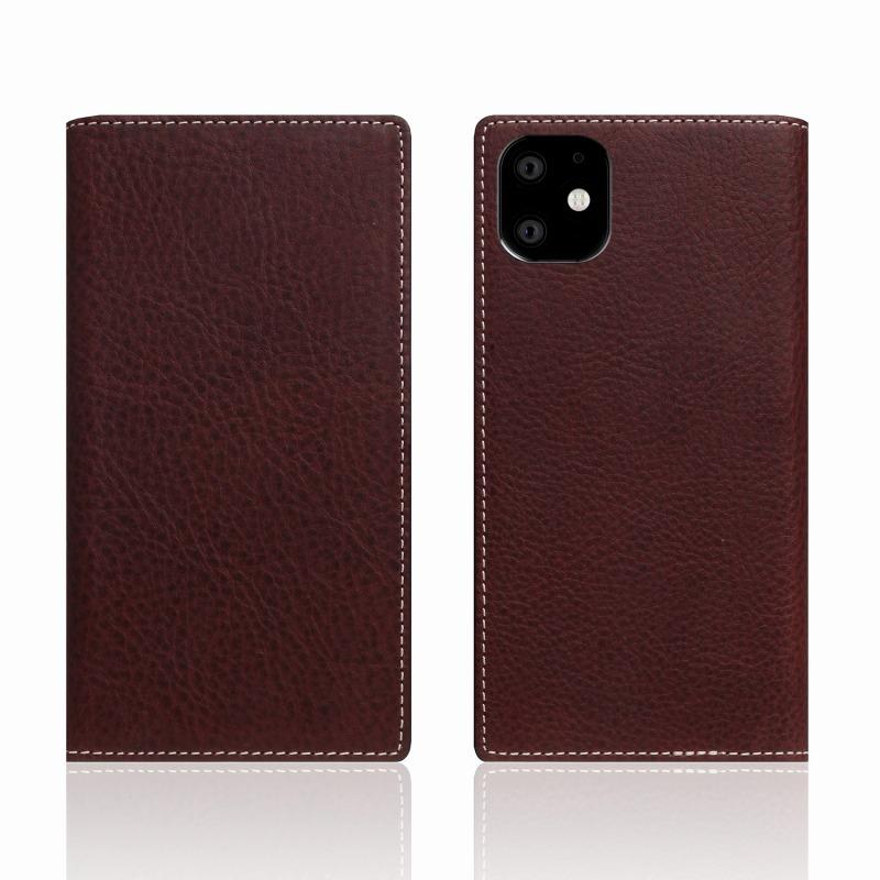 【SLG Design(エスエルジーデザイン)】iPhone 11 Minerva Box Leather Case ブラウン スマートフォンケース スマホケース 手帳型ケース[▲][R]
