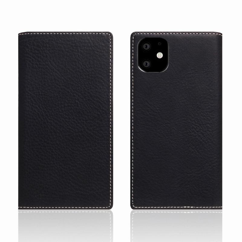 【SLG Design(エスエルジーデザイン)】iPhone 11 Minerva Box Leather Case ブラック スマートフォンケース スマホケース 手帳型ケース[▲][R]