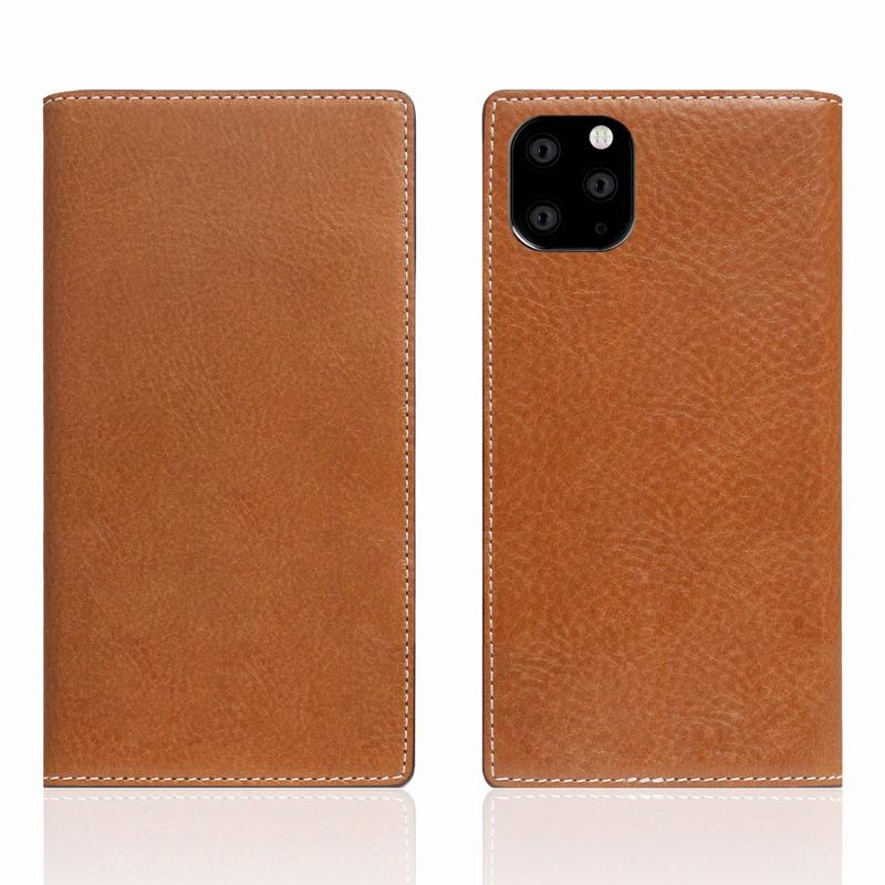 【SLG Design(エスエルジーデザイン)】iPhone 11 Pro Max Tamponata Leather case タン スマートフォンケース スマホケース 手帳型ケース[▲][R]