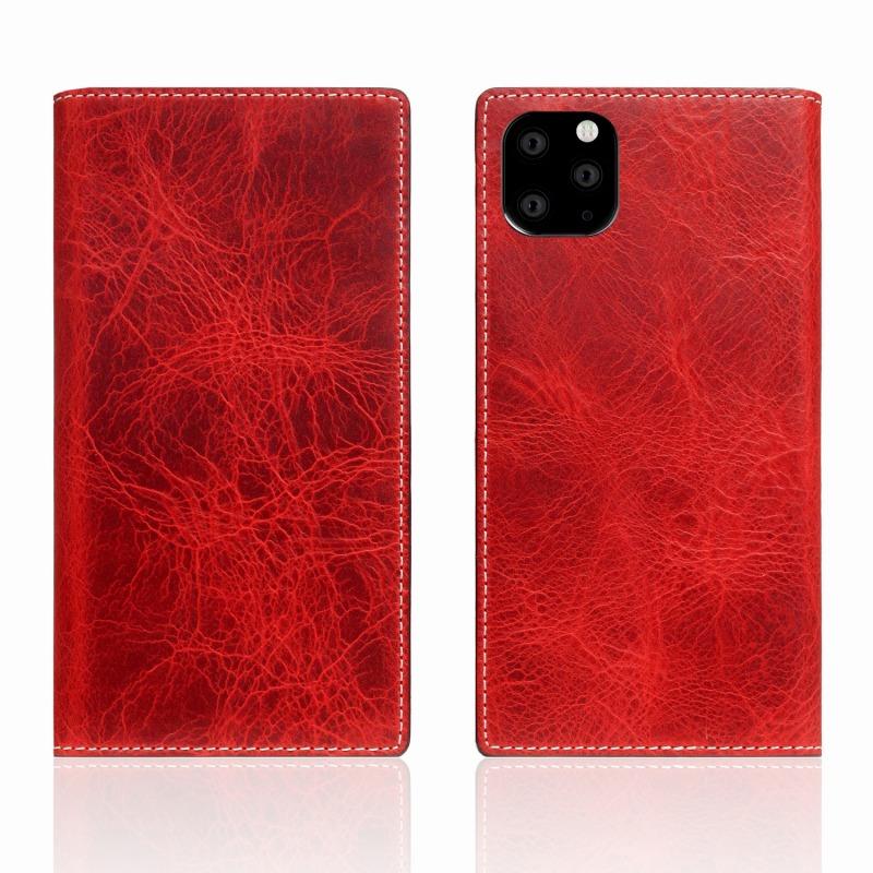【SLG Design(エスエルジーデザイン)】iPhone 11 Pro Max Badalassi Wax case レッド スマートフォンケース スマホケース 手帳型ケース[▲][R]