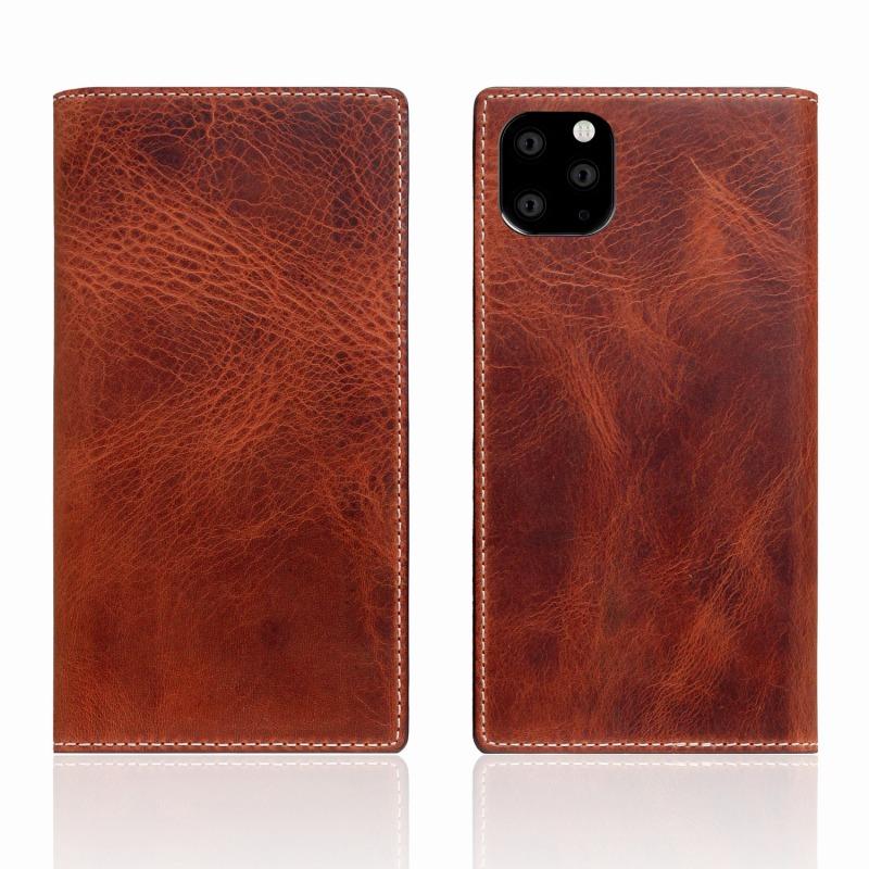 【SLG Design(エスエルジーデザイン)】iPhone 11 Pro Max Badalassi Wax case ブラウン スマートフォンケース スマホケース 手帳型ケース[▲][R]