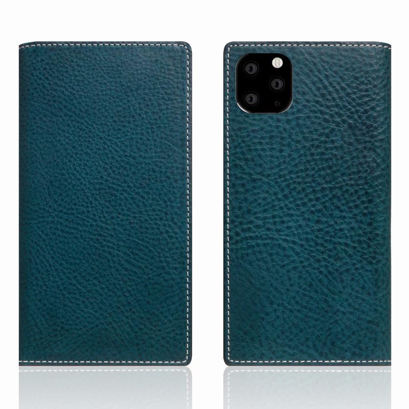 【SLG Design(エスエルジーデザイン)】iPhone 11 Pro Max Minerva Box Leather Case ブルー スマートフォンケース スマホケース 手帳型ケース[▲][R]