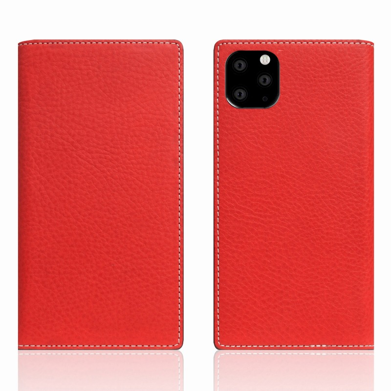 【SLG Design(エスエルジーデザイン)】iPhone 11 Pro Max Minerva Box Leather Case レッド スマートフォンケース スマホケース 手帳型ケース[▲][R]