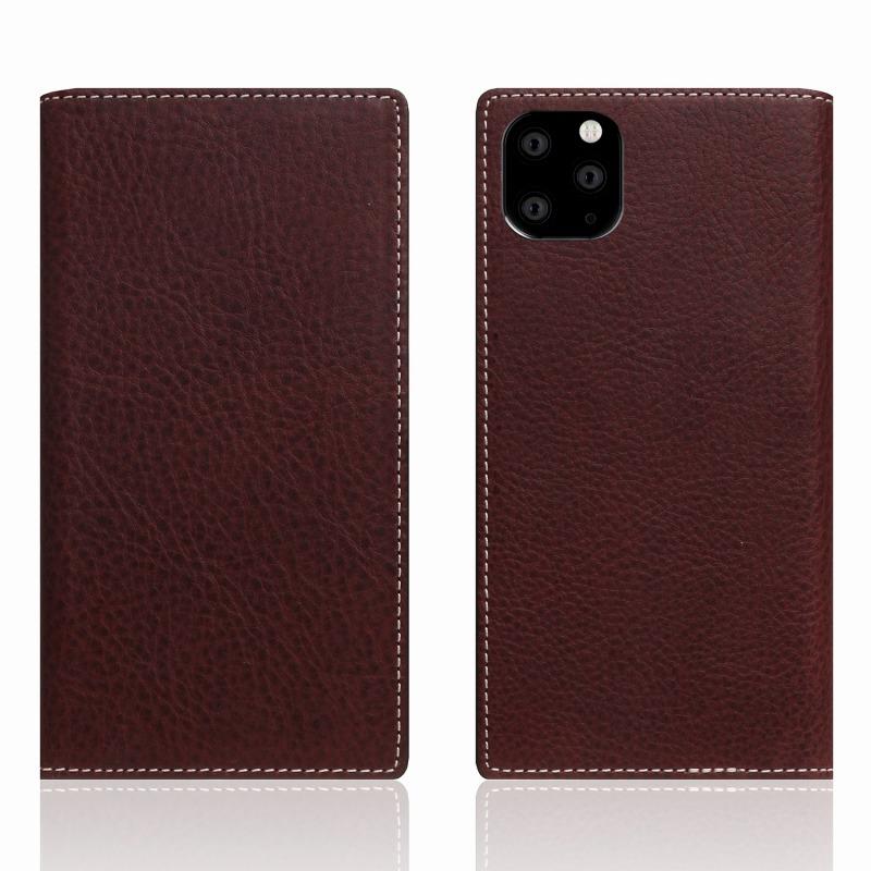 【SLG Design(エスエルジーデザイン)】iPhone 11 Pro Max Minerva Box Leather Case ブラウン スマートフォンケース スマホケース 手帳型ケース[▲][R]