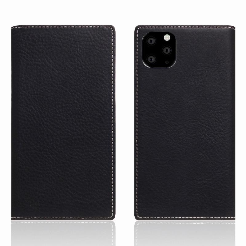 【SLG Design(エスエルジーデザイン)】iPhone 11 Pro Max Minerva Box Leather Case ブラック スマートフォンケース スマホケース 手帳型ケース[▲][R]