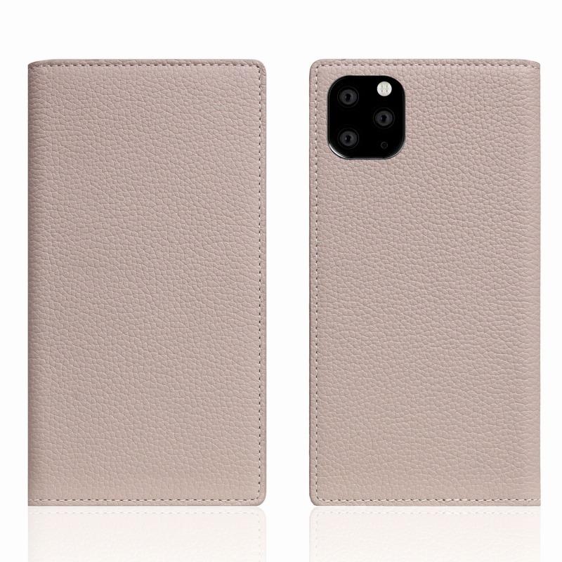 【SLG Design(エスエルジーデザイン)】 iPhone 11 Pro Max Full Grain Leather Case ライトクリーム スマートフォンケース スマホケース 手帳型ケース[▲][R]