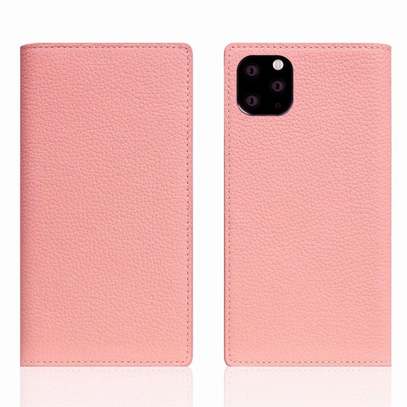 【SLG Design(エスエルジーデザイン)】 iPhone 11 Pro Max Full Grain Leather Case ライトローズ スマートフォンケース スマホケース 手帳型ケース[▲][R]