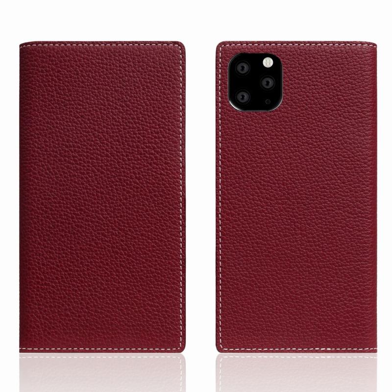 【SLG Design(エスエルジーデザイン)】 iPhone 11 Pro Max Full Grain Leather Case バーガンディローズ スマートフォンケース スマホケース 手帳型ケース[▲][R]