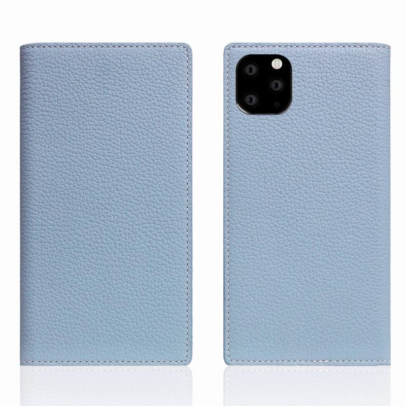 【SLG Design(エスエルジーデザイン)】 iPhone 11 Pro Max Full Grain Leather Case パウダーブルー スマートフォンケース スマホケース 手帳型ケース[▲][R]
