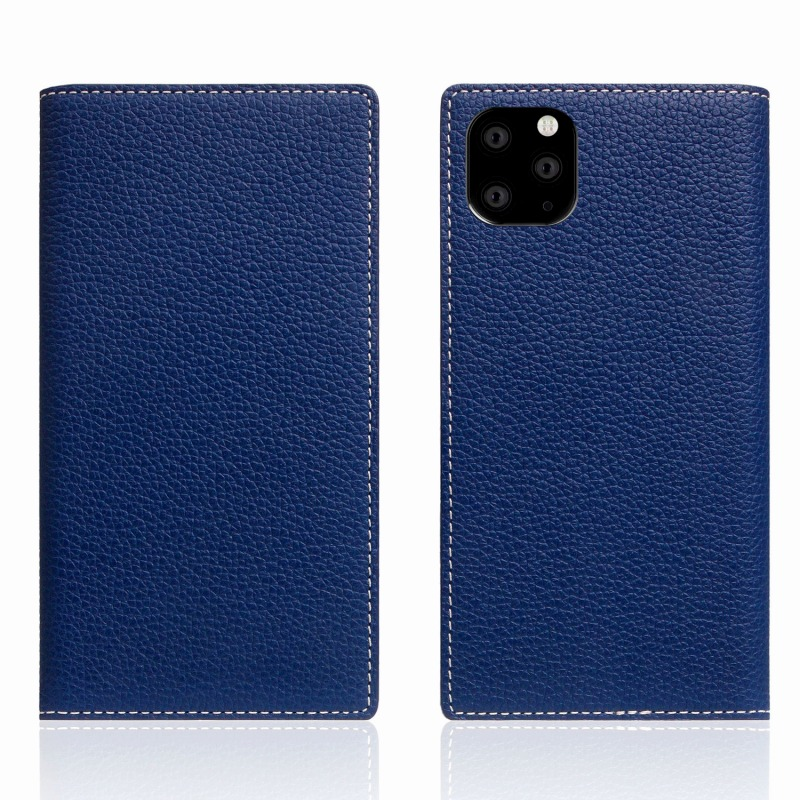 【SLG Design(エスエルジーデザイン)】 iPhone 11 Pro Max Full Grain Leather Case ネイビーブルー スマートフォンケース スマホケース 手帳型ケース[▲][R]