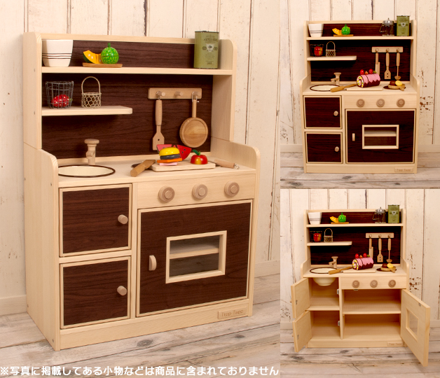 Kitchen Paint Type: Hobinavi: Very Popular! Wooden House Kitchen Modern Color デラックスハイ Type (your 3 Color) Wood
