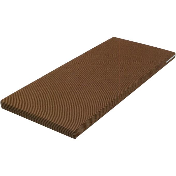 ベッドマットレス ハード&ソフト Sレギュラー ブラウン ウェルファン 快適リバーシブル 裏表でハード・ソフトにわかれます 介護用品