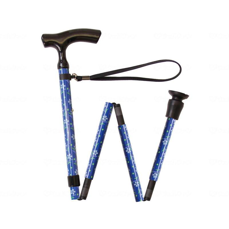 テイコブ 折りたたみ式伸縮カーボンステッキ ブルー 幸和製作所 折りたたみ式杖 折りたたみタイプ 介護用品 シニア向け 高齢者